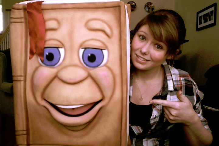 Meghan Casey with the Big Book Puppet