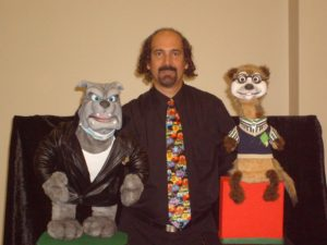 Bob Abdou with his Bulldog and Meerkat