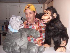 N Jay and his monkey meet the new Bulldog