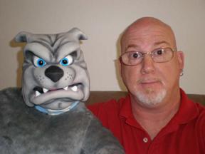 Dirk Golden and his Bulldog, Rocko