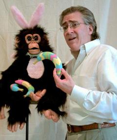 Doug Nearpass and his Easter chimp