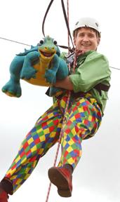 Colin Dymond with his Dinosaur