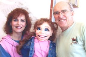 Hillary Saffran and her Diva with vent legend Clinton Detweiler