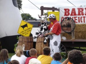 Rob of Moo-Mania Comedy with Axtell Cow Puppet