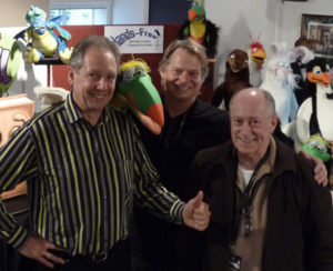 Perry Paul from Germany and Dave Andrews from UK each pick up a Toucan from Steve in S. Tyneside