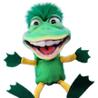 Dinky Frog Puppet by Axtell Expressions