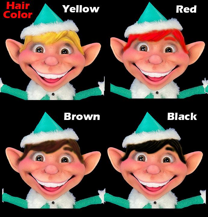 Dinky Elf Hair Color Options