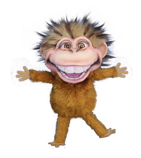 Brown Dinky Monkey Puppet
