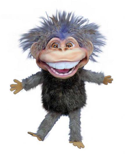 Gray Dinky Monkey Puppet