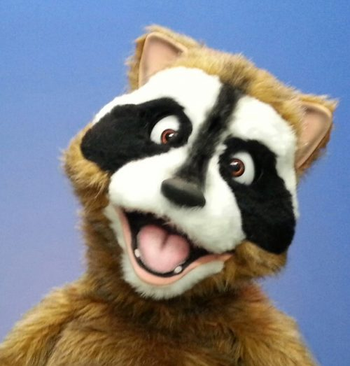Rick Rack Raccoon Puppet by Axtell Expressions