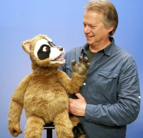 Rick Rack Raccoon Puppet with Steve Axtell