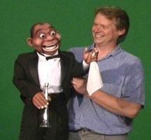 Steve Axtell with the Jazzman Puppet