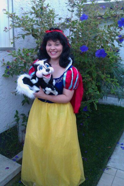 Christine Barger with her Skunk